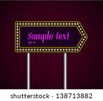 illuminated billboard on two... | Shutterstock .eps vector #138713882