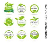 ecology  organic icon set. eco... | Shutterstock .eps vector #138714398