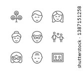 family icon set including... | Shutterstock .eps vector #1387151258