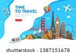 travel banner design with... | Shutterstock .eps vector #1387151678