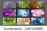 international lovely valentine... | Shutterstock .eps vector #1387154885