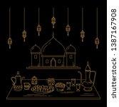 illustration of line art style... | Shutterstock .eps vector #1387167908