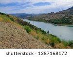 zahara el gastor lake viewed...   Shutterstock . vector #1387168172