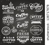 collection of coffee shop... | Shutterstock .eps vector #138717878