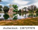 rome  italy   april 4  2019 ...   Shutterstock . vector #1387197878