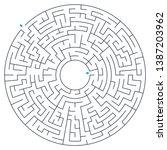 maze  labyrinth  vector... | Shutterstock .eps vector #1387203962
