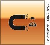 black customer attracting icon... | Shutterstock .eps vector #1387220972