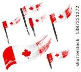 set of national symbols  ... | Shutterstock .eps vector #1387221272