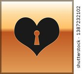black heart with keyhole icon... | Shutterstock .eps vector #1387232102