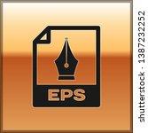 black eps file document icon.... | Shutterstock .eps vector #1387232252