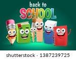 funny school supply cartoon...   Shutterstock .eps vector #1387239725