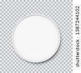 realistic white porcelain plate ...   Shutterstock .eps vector #1387244102