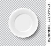 realistic white porcelain plate ...   Shutterstock .eps vector #1387244105