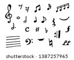 music notes and symbols vector... | Shutterstock .eps vector #1387257965