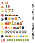 numbers for children with...   Shutterstock .eps vector #1387259735