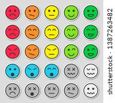 set of colorful emoticons. flat ... | Shutterstock .eps vector #1387263482