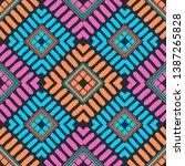art seamless pattern. ethnic... | Shutterstock .eps vector #1387265828