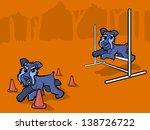 illustration of dogs running... | Shutterstock .eps vector #138726722