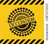 occupation black grunge emblem...   Shutterstock .eps vector #1387271012