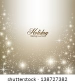 elegant christmas background... | Shutterstock .eps vector #138727382