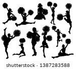 detailed silhouette... | Shutterstock .eps vector #1387283588