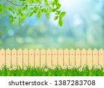 green field landscape from... | Shutterstock . vector #1387283708