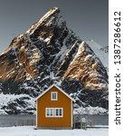 classic shot in reine  lofoten... | Shutterstock . vector #1387286612