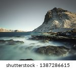 long exposure during the day on ... | Shutterstock . vector #1387286615