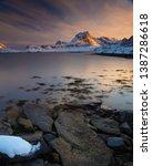 long exposure during sunset in... | Shutterstock . vector #1387286618