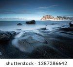 long exposure on the beach of... | Shutterstock . vector #1387286642