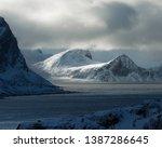 dramatic light in lofoten... | Shutterstock . vector #1387286645