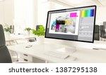graphic design screen mockup... | Shutterstock . vector #1387295138