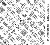 physiotherapy seamless pattern... | Shutterstock .eps vector #1387320788