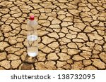 Bottle Of Water In The Desert