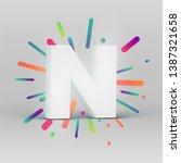 3d character from a fontset... | Shutterstock .eps vector #1387321658