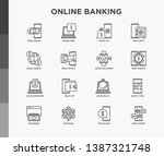 online banking thin line icons...   Shutterstock .eps vector #1387321748