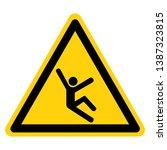 fall hazard symbol sign  vector ... | Shutterstock .eps vector #1387323815