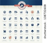 set of business icons for... | Shutterstock .eps vector #138732608