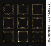 set of vector isolated golden... | Shutterstock .eps vector #1387326128