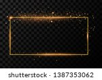 golden frame with lights... | Shutterstock .eps vector #1387353062