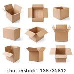 collection of various cardboard ... | Shutterstock . vector #138735812