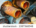 Closeup Of Stack Of Corroded...