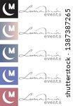 luna mia type logo with... | Shutterstock .eps vector #1387387265