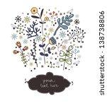 floral border | Shutterstock .eps vector #138738806