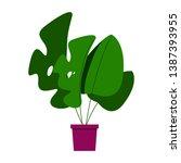 vector plant in a pot.... | Shutterstock .eps vector #1387393955