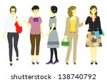 woman  office worker  student | Shutterstock .eps vector #138740792