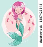 Pretty Mermaid With Fishes...