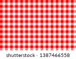 gingham pattern. texture from... | Shutterstock .eps vector #1387466558