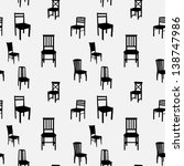 seamless chairs pattern | Shutterstock .eps vector #138747986