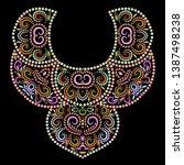 neckline ethnic design. floral... | Shutterstock .eps vector #1387498238
